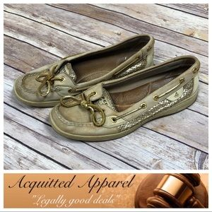 [Sperry] Gold Metallic Boat Shoes